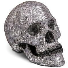 L'Objet Bijoux Porcelain & Swarovski Crystal Skull Sculpture (€7.450) ❤ liked on Polyvore featuring home, home decor, fillers, halloween, accessories, decor, apparel & accessories, no color, l'objet and skull sculpture