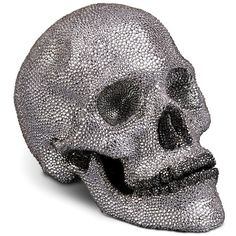 L'Objet Bijoux Porcelain & Swarovski Crystal Skull Sculpture ($8,000) ❤ liked on Polyvore featuring home, home decor, fillers, accessories, halloween, decor, apparel & accessories, no color, l'objet and skull sculpture