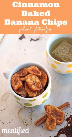 Cinnamon Baked Banana Chips from http://meatified.com #paleo #glutenfree