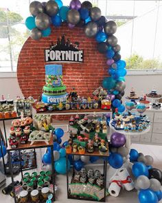 9th Birthday Parties, Birthday Party Tables, Superhero Birthday Party, 11th Birthday, Birthday Diy, Ballon Decorations, Diy Birthday Decorations, Playstation, Xbox