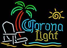 neon beach signs | Corona Beach Chair and Palm Tree Neon Beer Signs