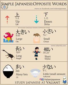 Simple Japanese: Opposite Words