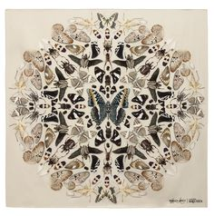 scarf design : Alexander McQueen and Damien Hirst collaboration