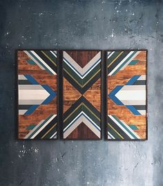 Reclaimed Wood Wall Art by @H71Designs Studio, 2017