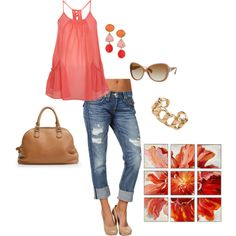 think I may have pinned this already, but who cares its adorable! love the color, love the capris and love the shoes