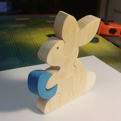 Easter Toys Easter Bunny  Handmade Wooden Kids Toys by Ntoys $14.99 #Easter :)