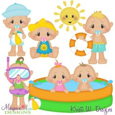 Summer Loving Babies SVG-MTC-PNG plus JPG Cut Out Sheet(s) Our sets also include clipart in these formats: PNG & JPG