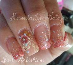 Acrylic nails by Marisela