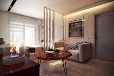 Гостиная, холл в цветах: серый, светло-серый, белый, темно-коричневый, коричневый. Гостиная, холл в стиле экологический стиль.