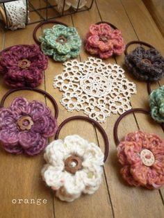 flower hair elastic