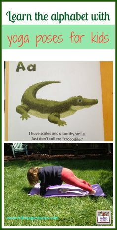 Learn alphabet through yoga poses for kids by Kids Yoga Stories
