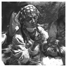 Africa | 'The Rhythm'  Berber woman, Morocco | Image taken from the publication 'Images du Maroc Berbere' Henri Duquaire. Photographies de J. Belin. 1st edition 1947