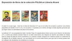 Exposición de libros de la colección PULGA en Librería Alcaná. Evento recomendado por Uniliber: Libros y Coleccionismo ➡ www.uniliber.com