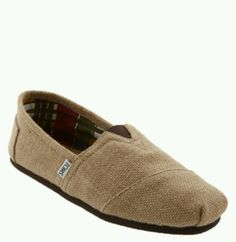 Toms Burlap slip ons are perfect for fall!