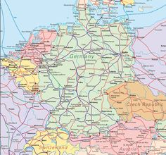 map of germany - a pretty one