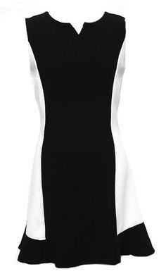 Black Sleeveless Back Zipper Ruffles Dress