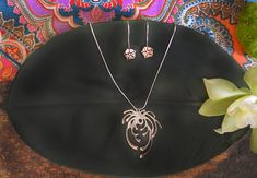 Asian Mum Necklace in Sterling Silver « SilverBotanica – Handmade Jewelry designed by Alicia Hanson