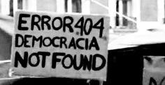 Error 404 Democracia Not Found
