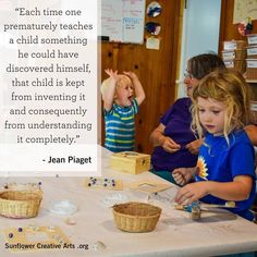 Early Childhood Quotes, Jean Piaget, Keynote Speakers, Dom, Homeschool, Creative Art, Inventions, Free, Teaching