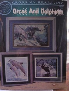 Orcas and Dolphin Counted Cross Stitch Pattern Booklet Cross My Heart INC  #CrossMyHeart