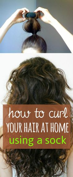 "Here is another DIY to get curls overnight using the ""sock bun"" trick.   Things required Scissors Clean socks Rubber band Water Wide tooth comb How to Take a clean sock. Cut its upper part. Now start rolling the socks."