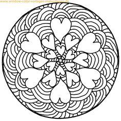 MANDALA AUSMALBILDER | Coloringpages321. | mandalas | Pinterest ...
