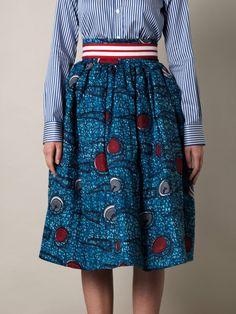 Stella Jean, Tribal Print Skirt