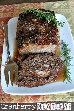 Cranberry Meatloaf - RecipeGirl.com  Im going to use ground turkey instead.