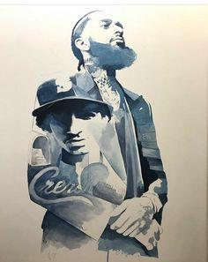 Angel Devil Tattoo, Angel And Devil, Lauren London Nipsey Hussle, X Tattoo, Rapper Art, Black Love Art, Handsome Black Men, Malcolm X, Carthage