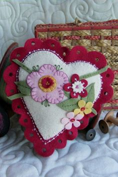 Lacey Heart Pincushion Sachet