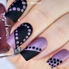 Super easy and beautiful matte dot nail art By: sveta sanders Nail art designs, be inspired by the super leading nail post suggestion ref 3505367005 for one amazingly eye catching nails. Nail Art Motif, Dot Nail Art, Pink Nail Art, Purple Nail, Ombre Nail, Nail Art Diy, Diy Nails, Cute Nails, Pretty Nails
