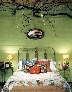 green bedrooms are refreshing...