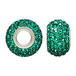 Emerald   JK Findings - 12x8mm May Crystal Bead 4.7mm Hole