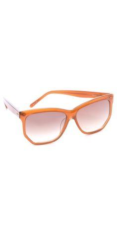 Linda Farrow Luxe. Angled Oversized Sunglasses. $429