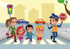 Road Safety Poster, Safety Posters, Painting For Kids, Drawing For Kids, Cartoon Pics, Cartoon Drawings, Speech Therapy Games, Animation, School Decorations