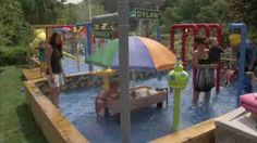 The Water Park Guy -- built a water park for his kids in their backyard