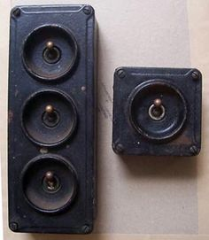 Retro Industrial light switches.