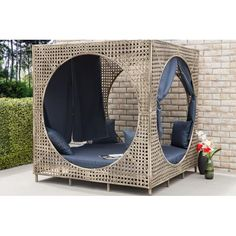 Bungalow Rose Brennon Cube Patio Daybed with Cushions Outdoor Daybed, Patio Loveseat, Patio Chairs, Outdoor Furniture, Outdoor Decor, Garden Furniture, Outdoor Loveseat, Hanging Furniture, Office Chairs