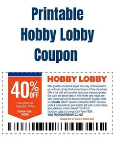 Grocery Coupons, Online Coupons, Hobby Lobby Coupon Code, Code Online, Off Spring, Great Hobbies, Printable Coupons, Christmas Sale, Coupon Codes