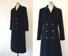 Vintage military coat . Black army jacket . by CubesandSquirrels, $68.00