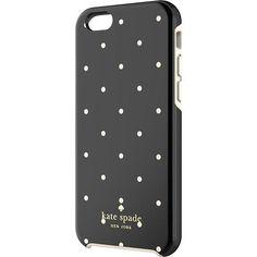 kate spade new york - Larabee Dot Hybrid Hard Shell Case for Apple® iPhone® 6 - Black/Cream - Larger Front $40