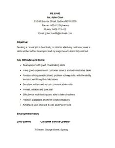 Sample Resume Simple Entrancing Easy Resume  Career Building  Pinterest  Resume Objective Sample .