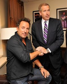 Bruce Springsteen and Brian Williams