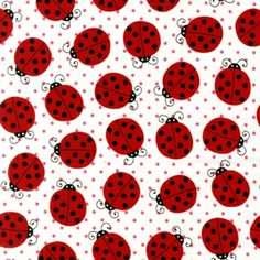 Pink Light Design, Picnic Party, Ladybugs in Strawberry Fabric - By the Yard Ladybug Picnic, Ladybug Party, Bee Party, Paper Background, Pattern Wallpaper, Fabric Design, Quilt Patterns, Paper Crafts, Crafty