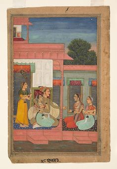Panchama Ragini: Folio from a ragamala series (Garland of Musical Modes) -  Date: ca. 1640 Culture: India (Rajasthan, Bikaner) Medium: Ink, opaque watercolor, and gold on paper