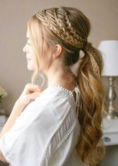 Messy Hairstyles, Hairstyles For Women Long, Wedge Hairstyles, Headband Hairstyles, 1930s Hairstyles, Wedding Hairstyles, Updos Hairstyle, Brunette Hairstyles, Fringe Hairstyles