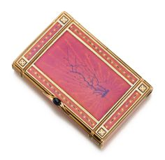 A GOLD AND ENAMEL CIGARETTE CASE, HAHN, WORKMASTER CARL BLANK, ST. PETERSBURG, DATED 1897