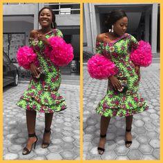 #ankaragrid Ankara Short Gown, Short Gowns, Kente Styles, Bridal Looks, African Fashion, Harajuku, Bridesmaid, Fabric, Blog
