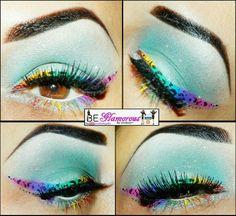 Rainbow cheetah , awesome!