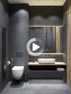 35 The Best Modern Bathroom Interior Design Ideas - Modern Interior Design Washroom Design, Bathroom Design Luxury, Bathroom Layout, Modern Bathroom Design, Modern Design, Kitchen Design, Modern Toilet Design, Interior Design Toilet, Modern Luxury Bathroom